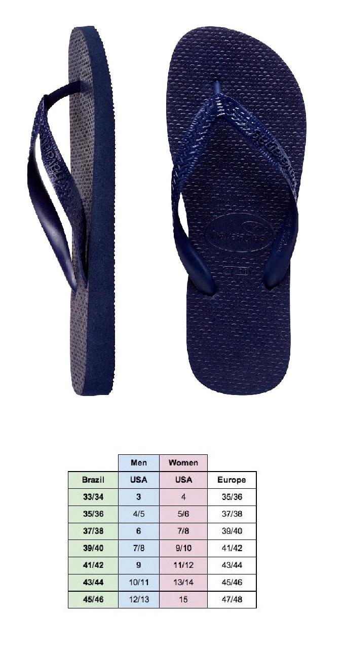 35040986177565 Havaianas - Top Thongs   Flip Flops. Navy Blue - Men s and Women s Sizes