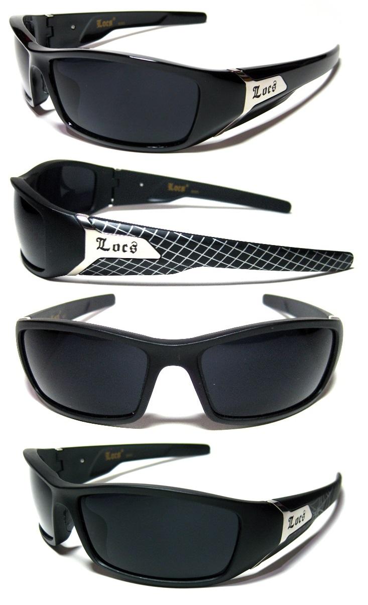 a796833715d LOCS Sunglasses - BLACK - Chopper   Wrap Around - Ex Quality! (FREE ...